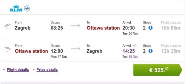 Zagreb >> Ottawa >> Zagreb