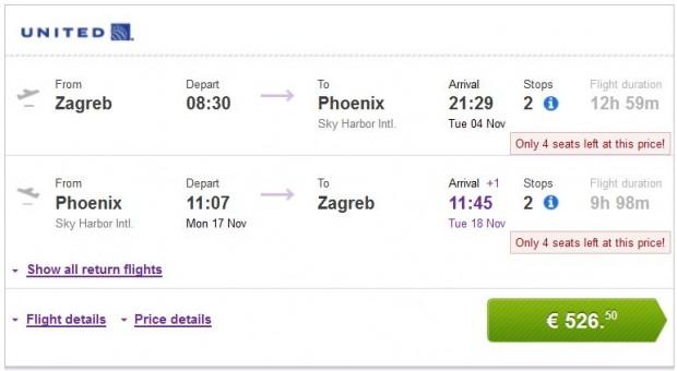 Zagreb >> Phoenix >> Zagreb