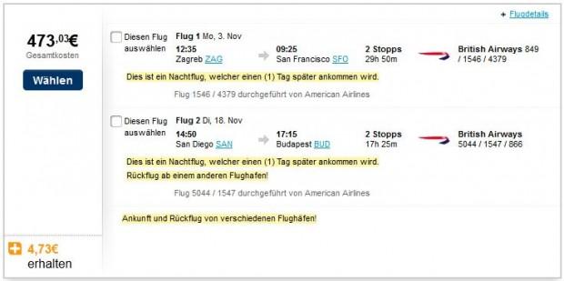 Zagreb >> San Francisco -- San Diego >> Budimpešta