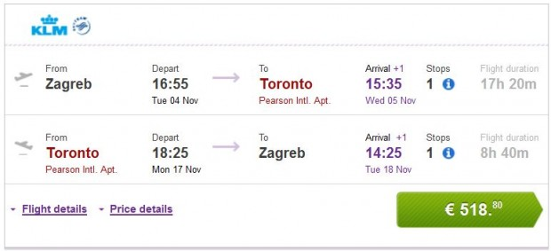 Zagreb >> Toronto >> Zagreb