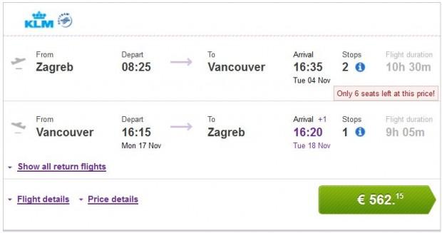 Zagreb >> Vancouver >> Zagreb