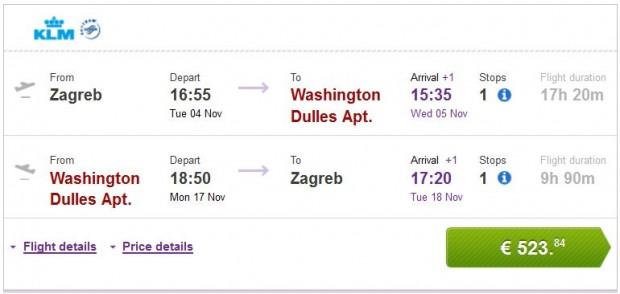 Zagreb >> Washington >> Zagreb