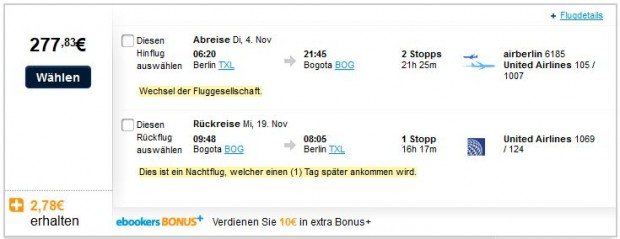 Berlin >> Bogota >> Berlin