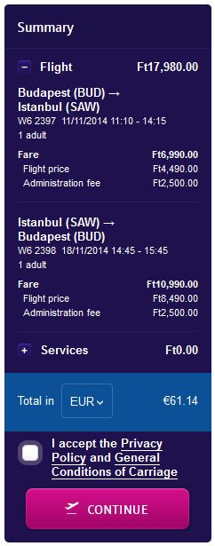 Budimpešta >> Istanbul >> Budimpešta - povratna karta