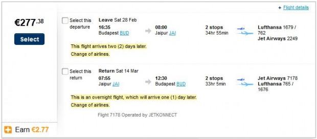 Budimpešta >> Jaipur >> Budimpešta
