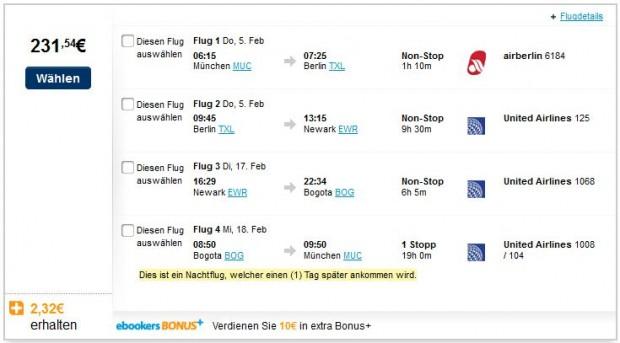 Minhen >> New York >> Bogota >> Minhen (Bogota samo 1 dan)