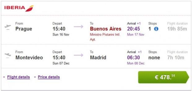 Prag >> Buenos Aires -- Montevideo >> Madrid