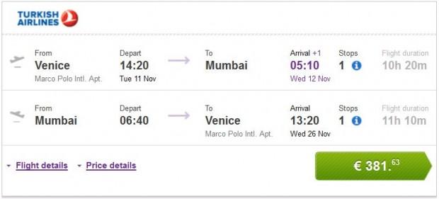 Venecija >> Mumbai >> Venecija