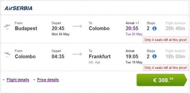 Budimpešta >> Colombo >> Frankfurt