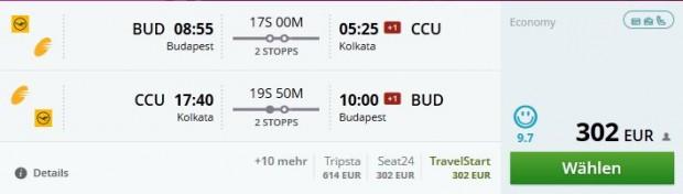 Budimpešta >> Kolkata >> Budimpešta