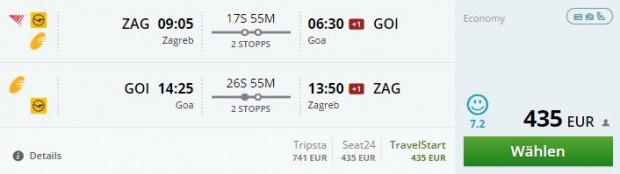 Zagreb >> Goa >> Zagreb
