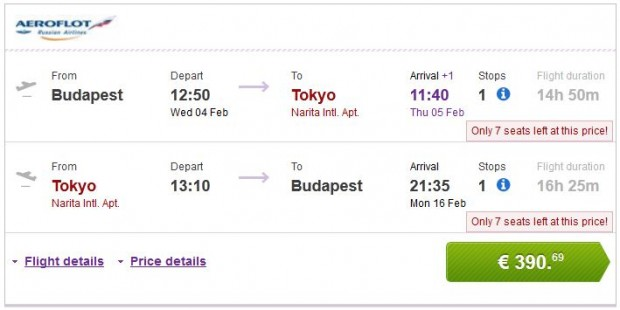Budimpešta >> Tokio >> Budimpešta