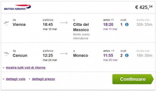 Beč >> Mexico City -- Cancun >> Minhen