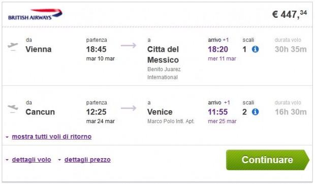 Beč >> Mexico City -- Cancun >> Venecija