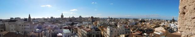 Pogled na Valenciju sa tornja Torres de Serranos