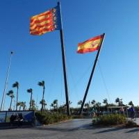 Zastave Comunidad Valenciana i Španjolske su posvuda