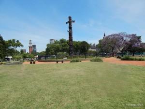 Plaza San Martín, neposredno uz stanicu Retiro