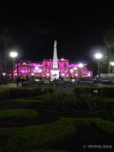 Casa Rosada pod noćnim svjetlom