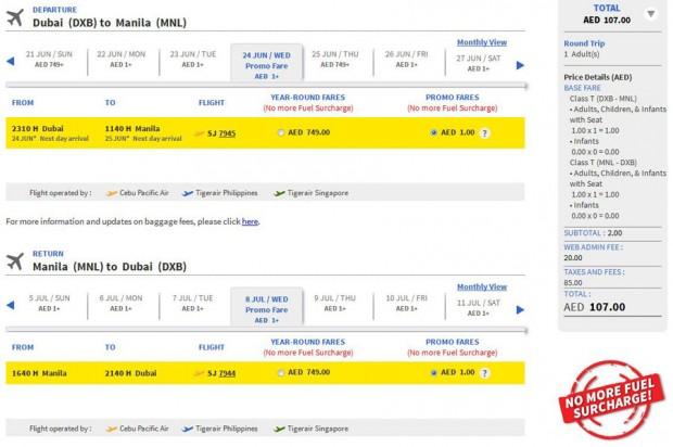 Dubai >> Manila >> Dubai