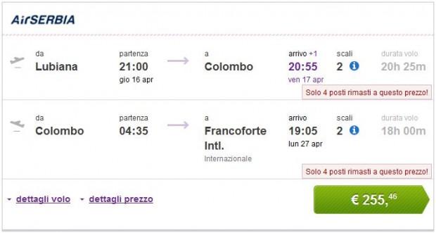 Ljubljana >> Colombo >> Frankfurt