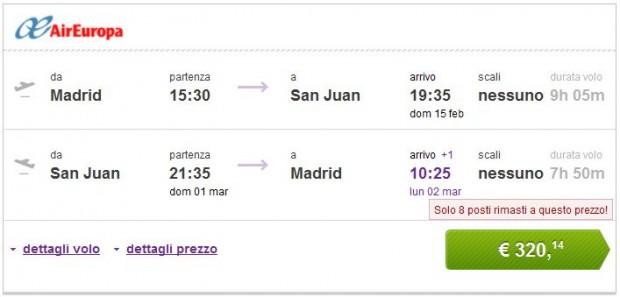 Madrid, Barcelona >> San Juan >> Madrid, Barcelona