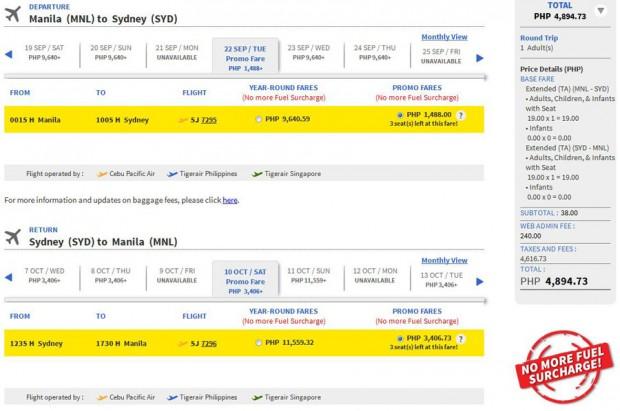 Manila >> Sydney >> Manila