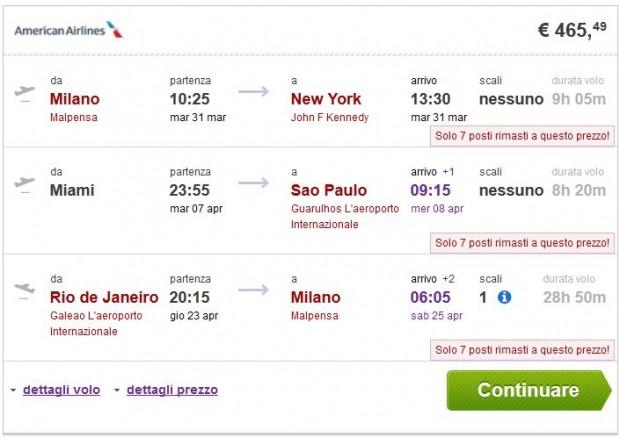 Milano >> New York -- Miami >> Sao Paulo -- Rio de Janeiro >> Milano