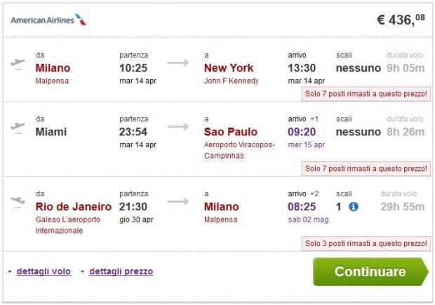 Milano >> New York — Miami >> Sao Paulo — Rio de Janeiro >> Milano