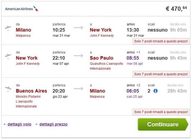 Milano >> New York >> Sao Paulo -- Buenos Aires >> Milano