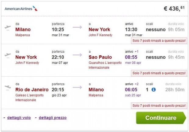 Milano >> New York >> Sao Paulo -- Rio de Janeiro >> Milano