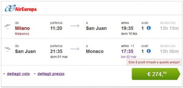 Milano >> San Juan >> Minhen
