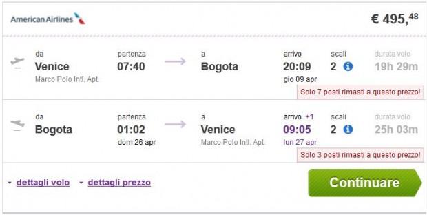 Venecija >> Bogota >> Venecija