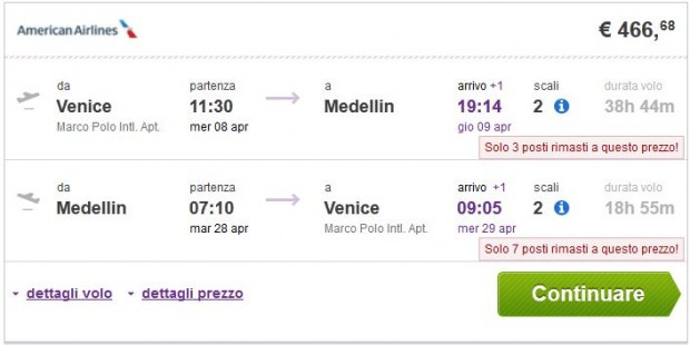 Venecija >> Medelin >> Venecija