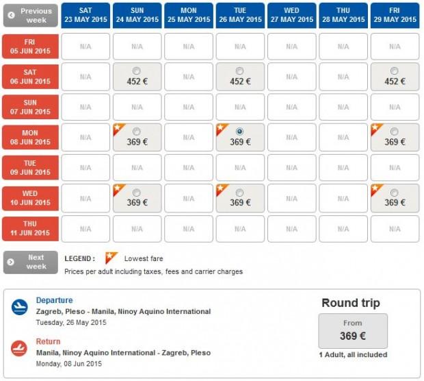 Zagreb >> Manila >> Zagreb - na Turkish Airlines stranicama