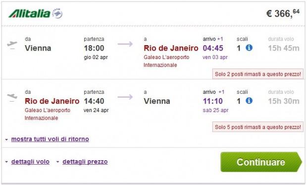 Beč >> Rio de Janeiro ili Sao Paulo >> Beč
