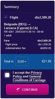 Beograd >> Larnaca
