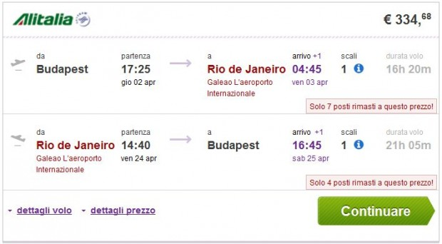 Budimpešta >> Rio de Janeiro ili Sao Paulo >> Budimpešta