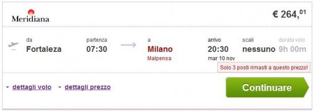 Fortaleza >> Milano