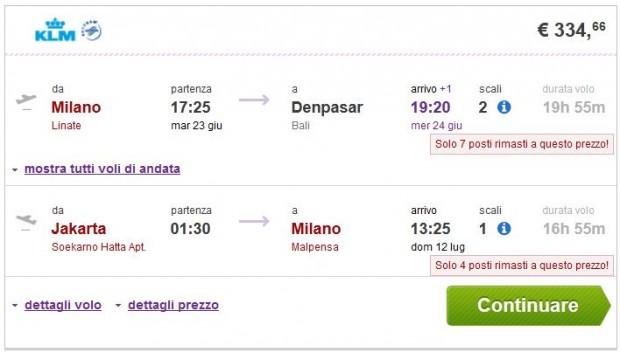 Milano >> Denpasar (Bali) — Jakarta >> Milano