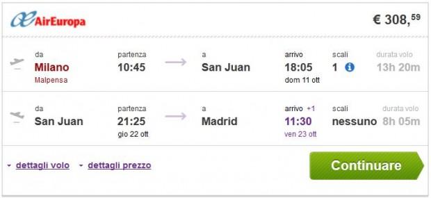 Milano >> San Juan >> Madrid