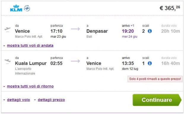 Venecija >> Denpasar (Bali) -- Kuala Lumpur >> Venecija