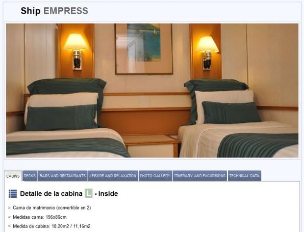 Pullmantur Cruises - kabina