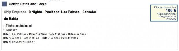 Pullmantur Cruises - ponuda