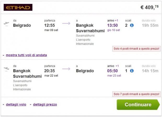 Beograd >> Bangkok >> Beograd