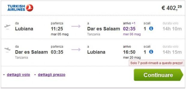 Ljubljana >> Dar es Salaam >> Ljubljana