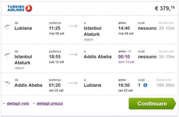 Ljubljana >> Istanbul >> Addis Abeba >> Ljubljana