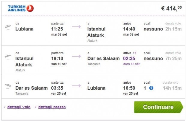 Ljubljana >> Istanbul >> Dar es Salaam >> Ljubljana