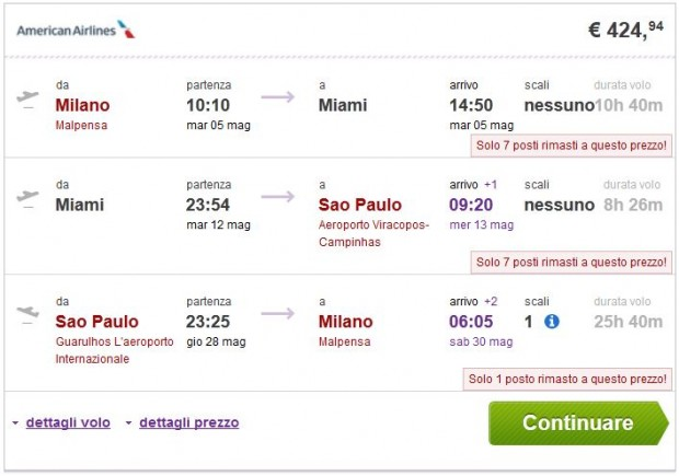 Milano >> Miami ili New York >> Sao Paulo >> Milano