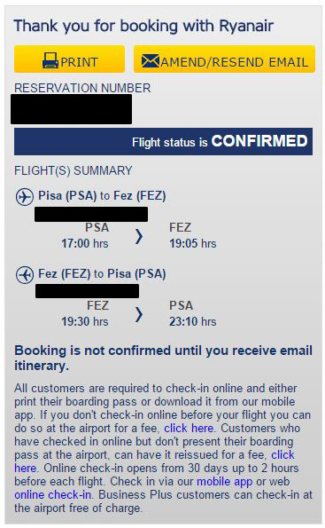 Ryanair stranice - pregled rezervacije, ponovno slanje email potvrde ili izmjena email adrese