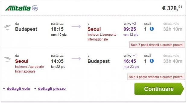 Budimpešta >> Seul >> Budimpešta